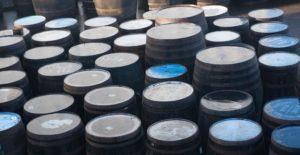 Empty Barrels at Eradour Distillery