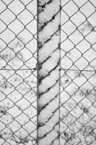 Snow on Fencepost